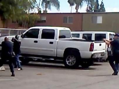 Imagen del vídeo sobre la muerte de un ciudadano negro cerca de San Diego