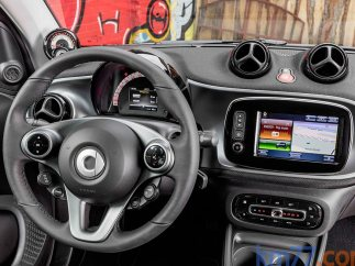 Interior del Smart Forfour electric drive