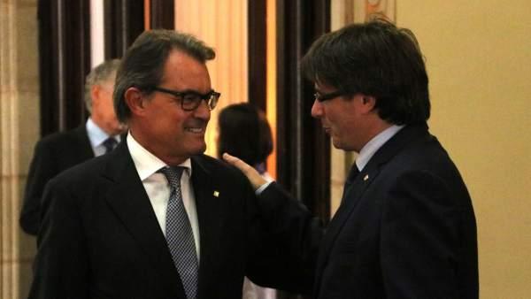 Artur Mas y Carles Puigdemont.