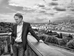 El escritor Dan Brown en Florencia