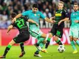 Luis Suárez ante el Borussia Mönchengladbach