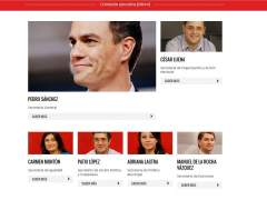 El PSOE elimina de la web a los 17 dimitidos de su Ejecutiva