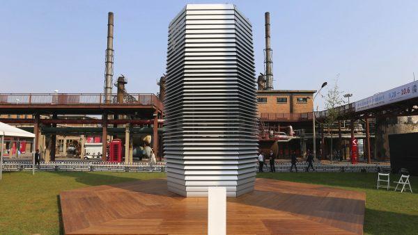La torre que transforma la polución en diamantes