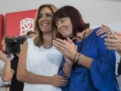 """Susana Díaz: """"El PSOE merece un debate profundo y no deprisa y corriendo por los intereses personales de alguien"""""""