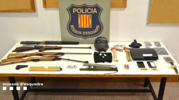 Desmantelada una banda que asaltaba plantaciones de marihuana en Girona
