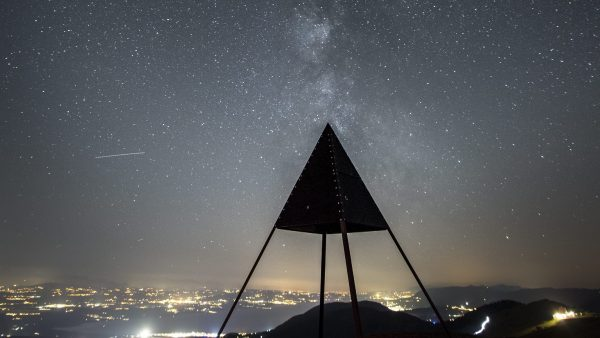 Vía Láctea desde la cumbre