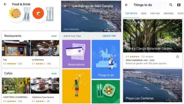La capital grancanaria en la  aplicación Google Trips