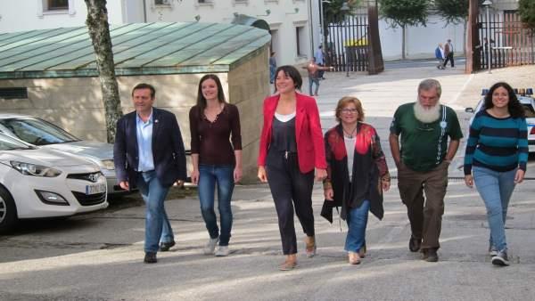 Los diputados del BNG de la X Legislatura del Parlamento de Galicia