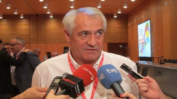 Jesús Santos, secretario general de UGT Navarra.