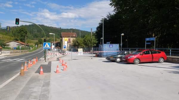 Obras en la estación de Zugastieta