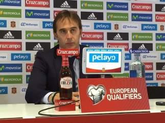 Julen Lopetegui, seleccionador nacional, en rueda de prensa