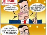 Viñeta El cuadrilátero del PSOE