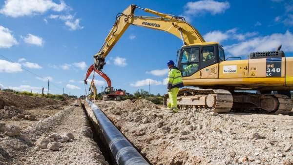 Trabajos de Redexis Gas en la provincia de Jaén