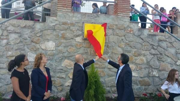 Inauguración plaza en Yunquera