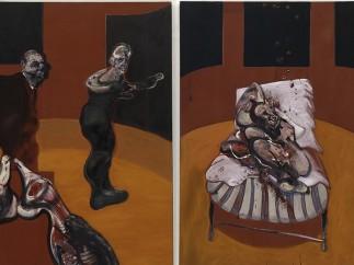 Francis Bacon- Tres estudios para una Crucifixión (Three Studies for a Crucifixion), 1962