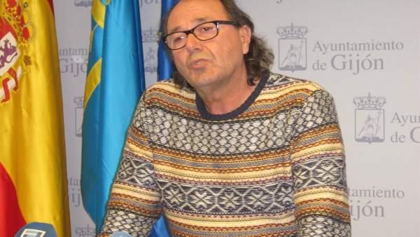 El portavoz de XSP, durante la rueda de prensa.