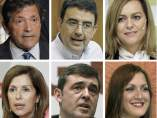 Miembros de la gestora del PSOE