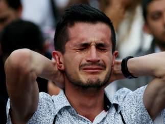 Lágrimas tras el 'no' en Colombia.