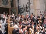 Artur Mas saliendo de declarar en el TSJC por el 9N