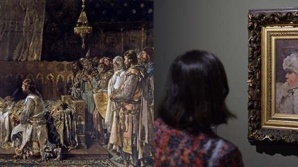 Obras de las exposiciones de Pinazo en el Museo de Bellas Artes y Bancaja