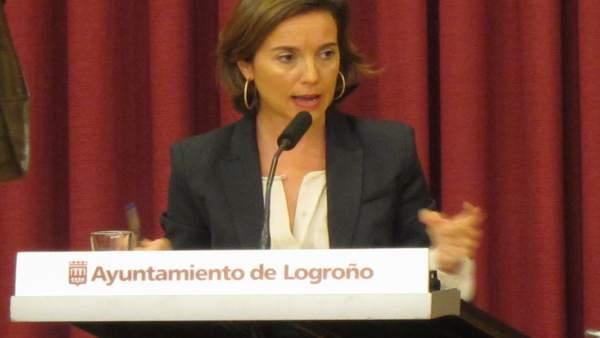 La alcaldesa de Logroño, Cuca Gamarra, en el Debate del Estado de la Ciudad 2014