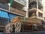 Apuntalan el edificio de la explosión de Premià de Mar
