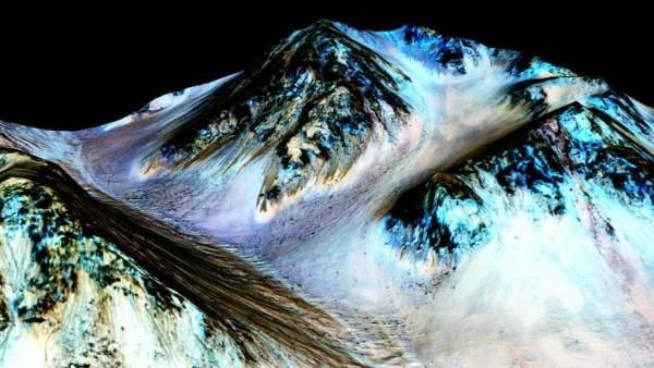 Imagen de la posible existencia de agua