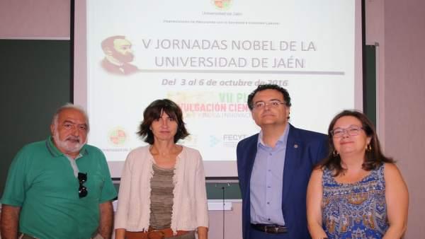 Inauguración de las jornadas para dar a conocer los Premios Nobel