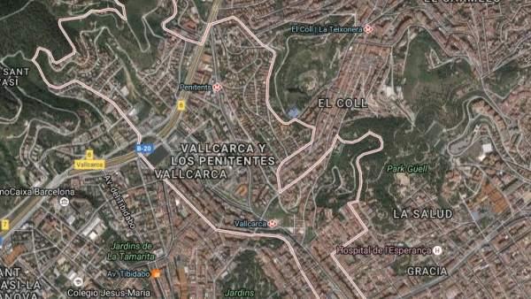 El barrio de Vallcarca en el distrito barcelonés de Gràcia.