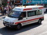 Ambulancia por las calles de Barcelona