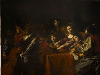 Valentin de Boulogne (French, Coulommiers-en-Brie 1591–1632 Rome) - The Concert with Eight Figures , Ca. 1629-30