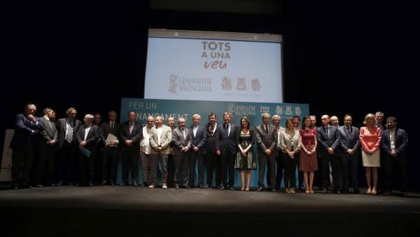 Instituciones valencianas reclaman en Madrid una financiación justa