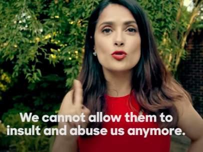 Salma Hayek pide el voto por Hillary Clinton