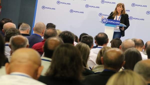 Alicia Sánchez-Camacho en la escuela de otoño del PP.