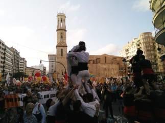 Manifestación con motivo del 9 d'Octubre