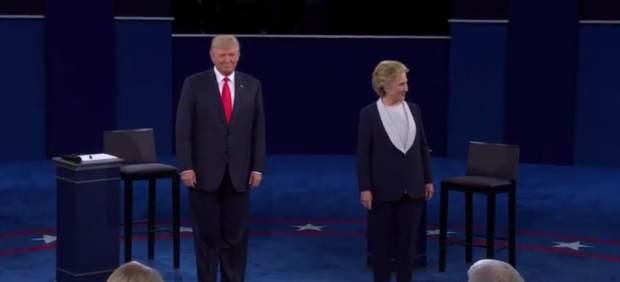 Hillary Clinton y Donald Trump en el segundo debate