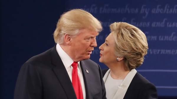 Segundo debate presidencial entre Trump y Clinton
