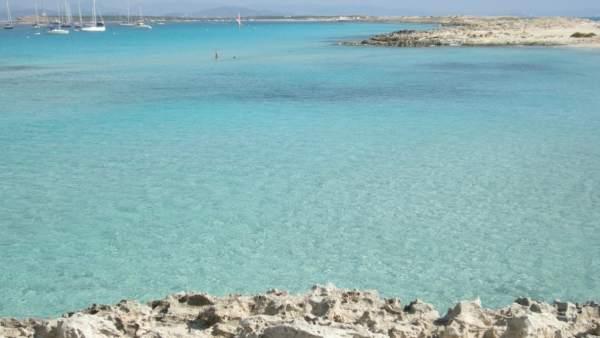 Foto de una playa en Formentera