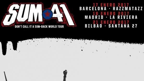 SUM 41 tocará en España en enero de 2017
