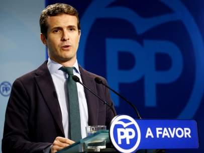 Comunicación del PP, Pablo Casado