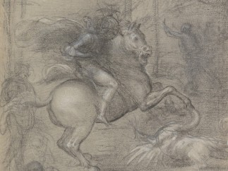Fra Barltommeo - Composition Drawing for St. George Slaying the Dragon, c. 1508-1510