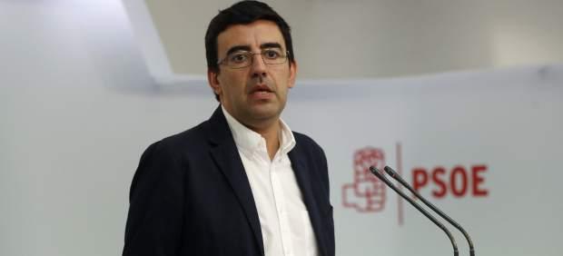 El portavoz de la Comisión Gestora del PSOE, Mario Jiménez