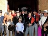 Adrián Hinojosa, junto a los toreros que participaron en su corrida benéfica