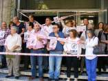 Protesta con el cierre simbólico de la sede de UGT-Jaén