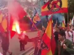 Manifestación ultra en Barcelona