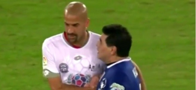Maradona y Verón
