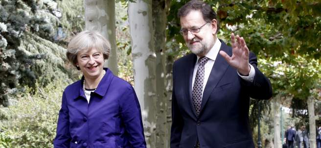 Rajoy y May