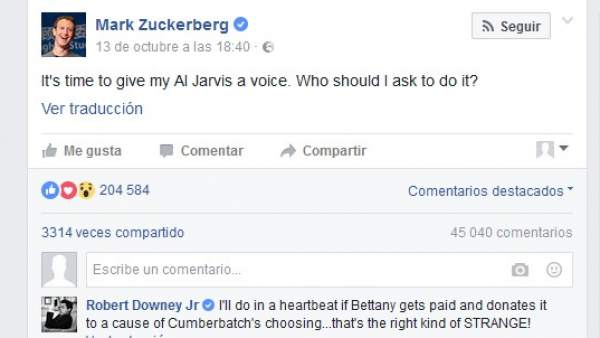 Post de Zuckerberg