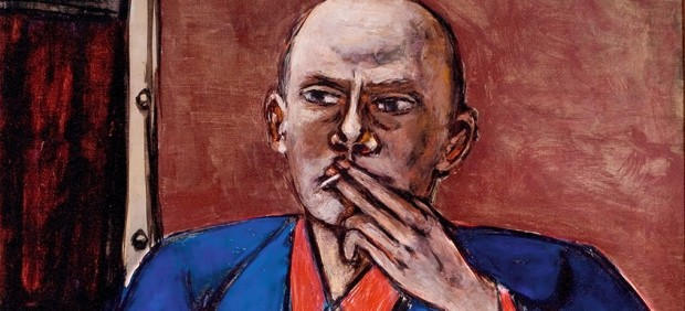 Max Beckmann (German, Leipzig 1884–1950 New York) - Self-Portrait in Blue Jacket, 1950