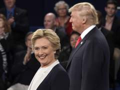 Trump se pone sarcástico y pide a Hillary Clinton que se presente a las elecciones